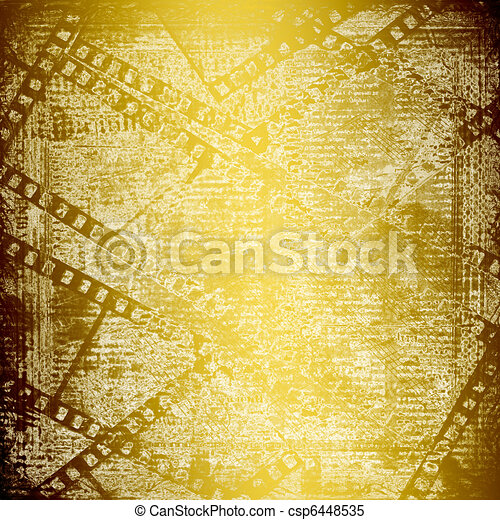Abstract ancient background in scrapbooking style with gold ornamentat - csp6448535
