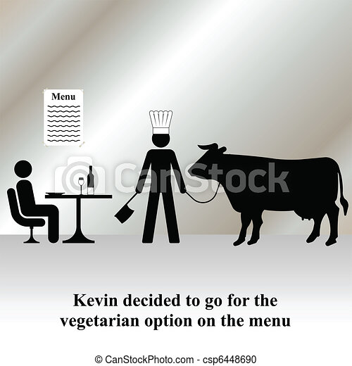 vegetarian menu - csp6448690