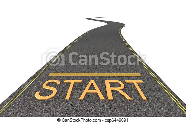 Start way. Isolated - csp6449091