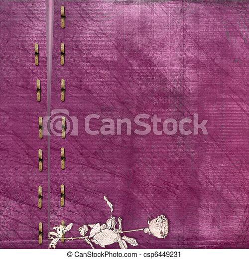Vinous antique cover for album with photos - csp6449231