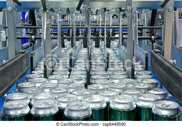 Filling of beverage cans - csp6449590