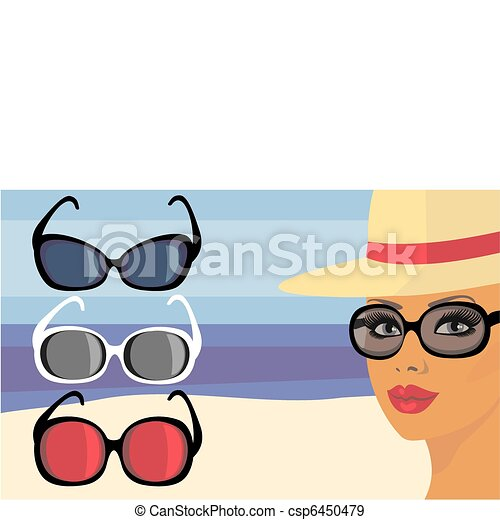 girl in sunglasses - csp6450479
