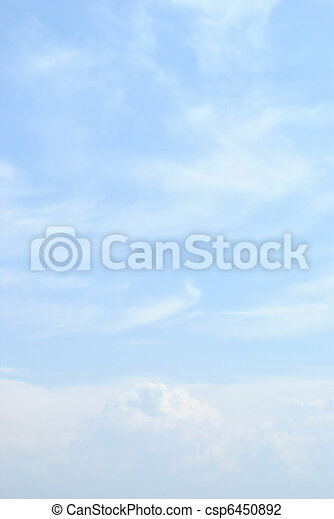 藍色, 云霧, 天空, 光 - csp6450892