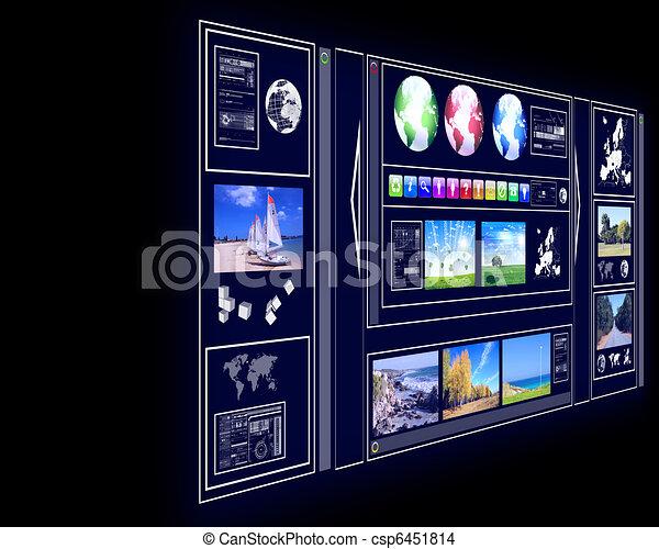 GPS navigator display - csp6451814