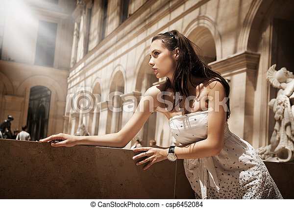 Gorgeous woman posing in a glamourous interior - csp6452084