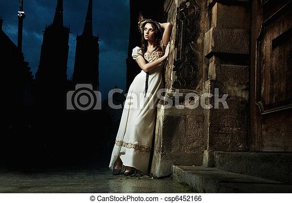 旧式, 女, 若い,  sensual - csp6452166