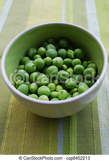 Peas in a bowl - csp6452213