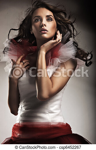 穿, 夫人, 衣服, 年輕, 華麗 - csp6452267