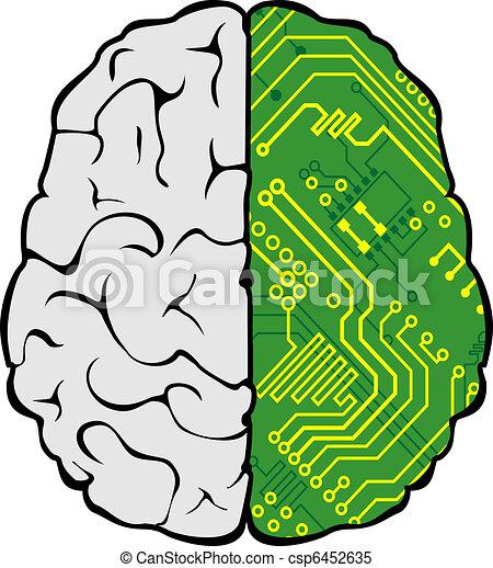 Computer Brain Icon Brain Icon