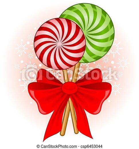 Illustration Nol Bonbon Canne Dcor Arc Banque D