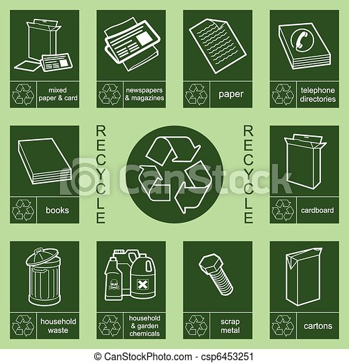 recycling sign collection 3 - csp6453251