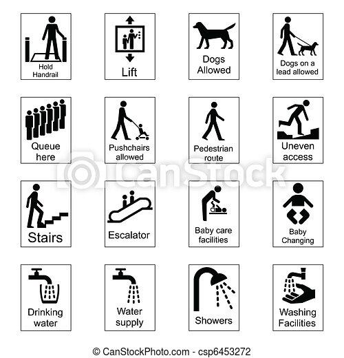 Public Information Signs  - csp6453272