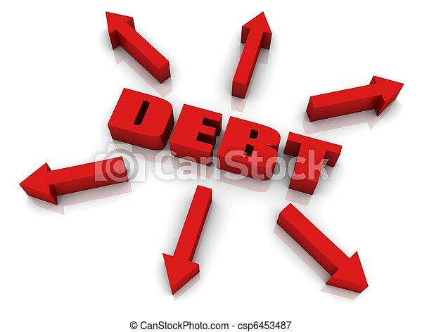 Debt Growth - csp6453487