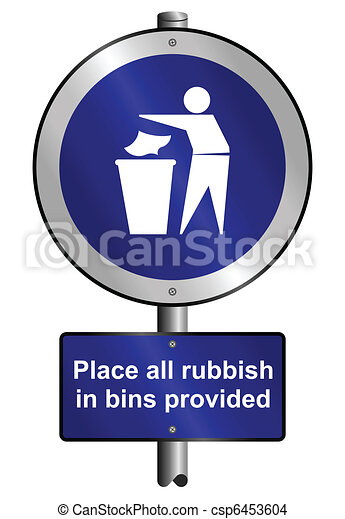 Place litter in bins  - csp6453604