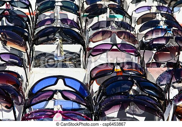 Picture of Fake sunglasses on a flea market