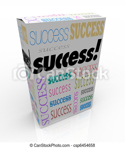Success - A Product Box Offers Instant Self Improvement - csp6454658