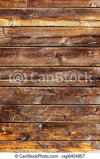 Grungy weathered wood planks - csp6454957