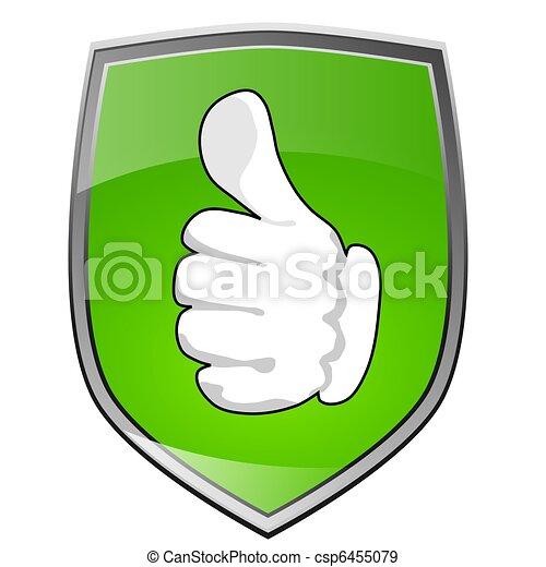 Positive Thumb up - csp6455079