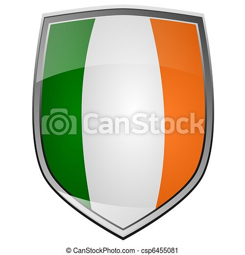 Clipart of Shield Ireland - Shield with the flag of Ireland ...