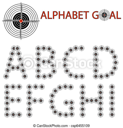 Vector alphabet of the target, hit the target - csp6455109