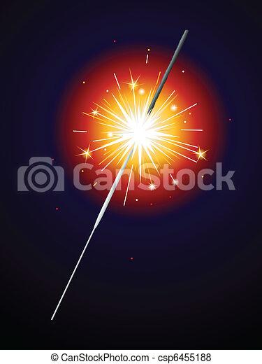 Lit sparkler - csp6455188
