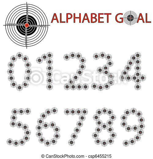 Vector alphabet of the target, hit the target - csp6455215