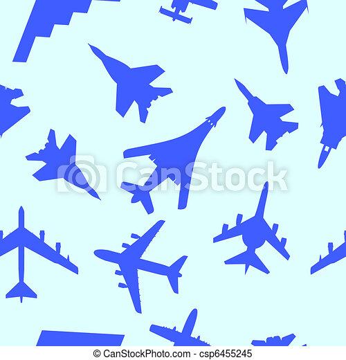 Vecteur clipart de papier peint seamless illustration avion vecteur c - Papier peint militaire ...