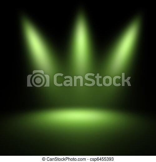 scene illuminated by a spotlight - csp6455393