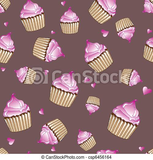 Cupcakes seamless - csp6456164