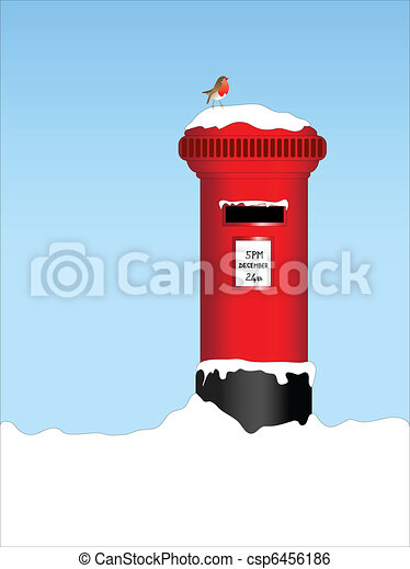 Post box with robin - csp6456186