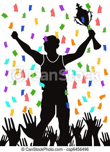 celebrating champion - csp6456496