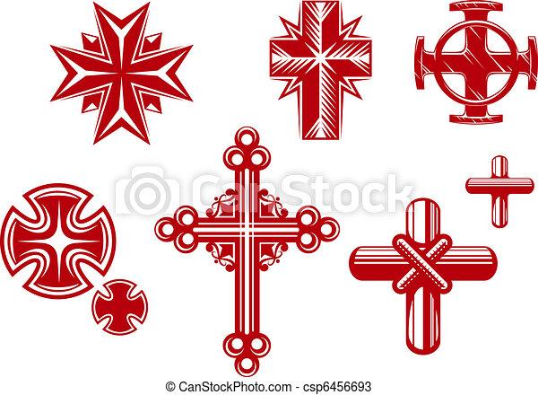Religious crosses - csp6456693