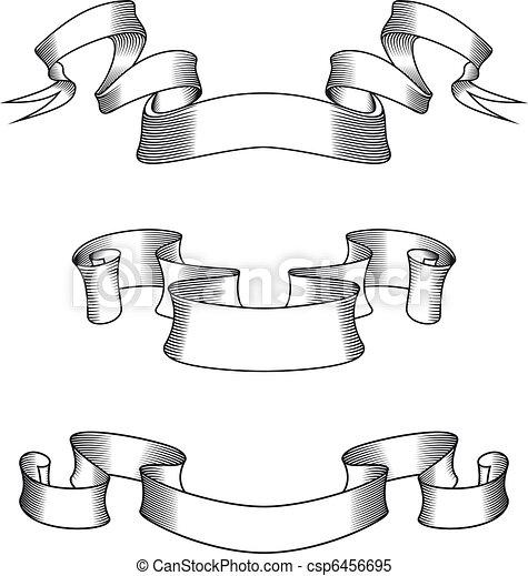 Medieval ribbons - csp6456695