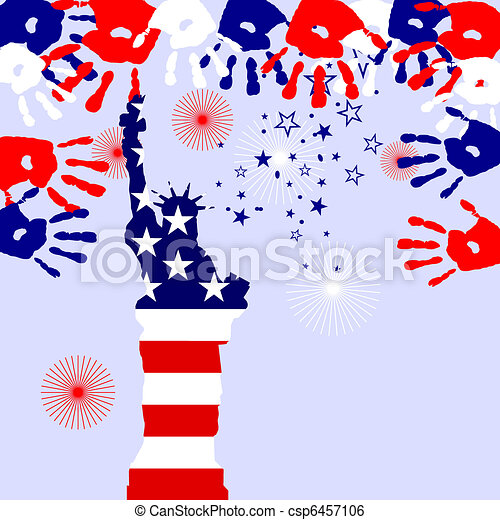 4th july - Independence day - csp6457106