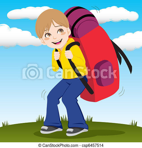 Backpack Boy - csp6457514