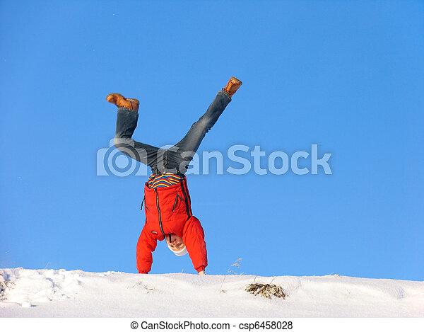 Winter cartwheel - csp6458028