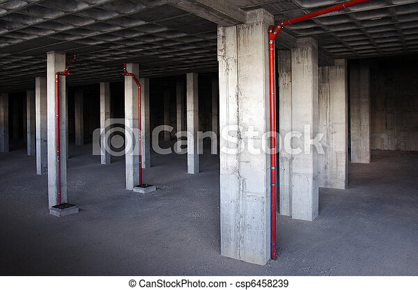 Stock photographs of building basement basement of a for Design my basement online free