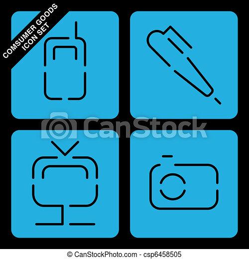 consumer goods icon set - csp6458505