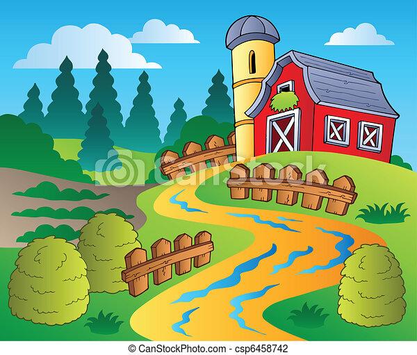 Clip Art Of Barnyard Scenes Clipart 1
