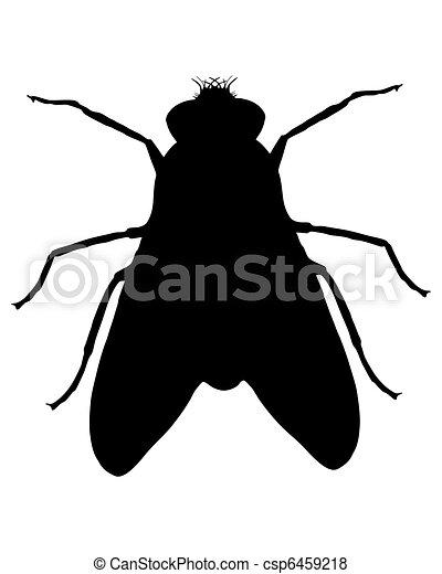 Illustration de mouche silhouette csp6459218 recherchez - Dessin de mouche ...