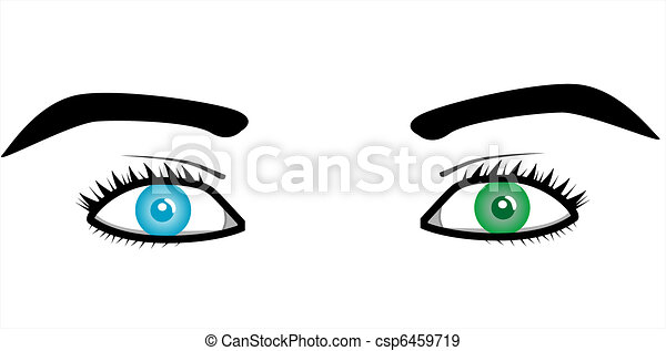 Beautiful pairs of eyes - csp6459719