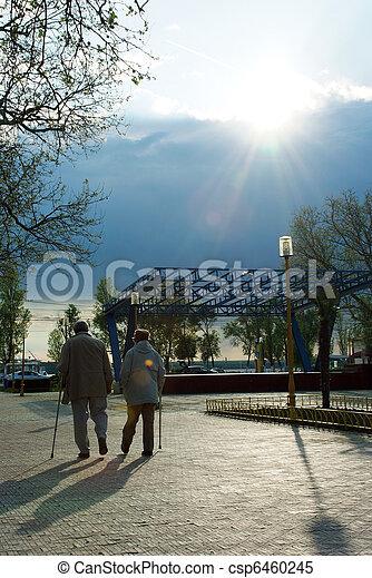 Old people walking - csp6460245