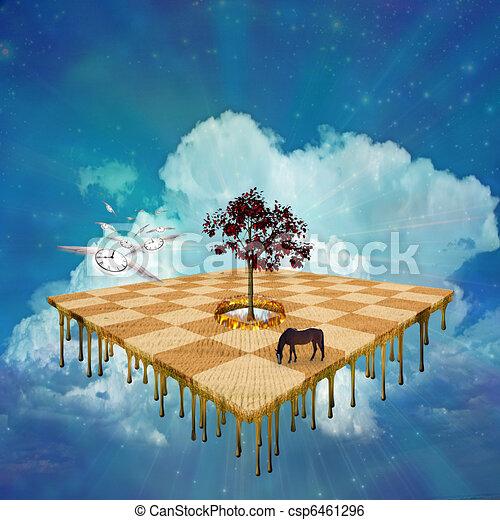 Surreal Landscape Drawing Surreal Landscape Csp6461296