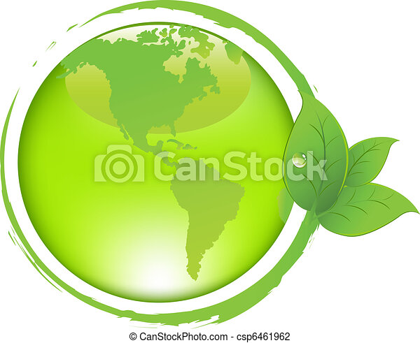 Green Earth With Leaves - csp6461962