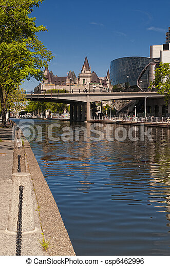 Rideau Canal and Convention Centre - csp6462996