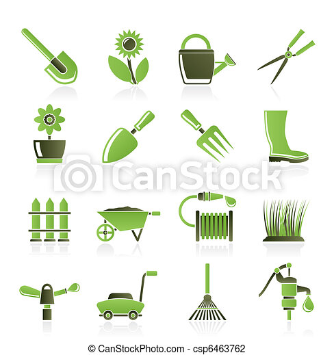 Garden and gardening tools  - csp6463762