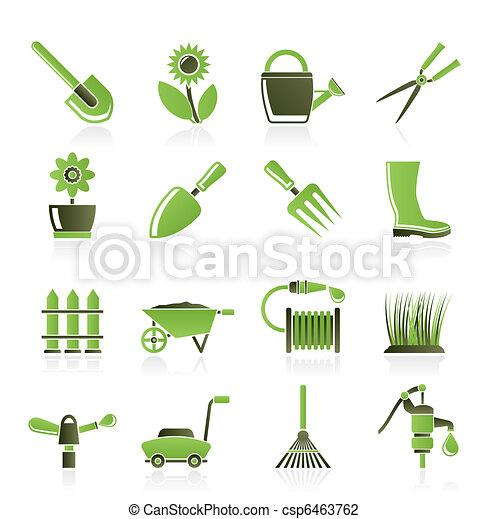 Illustration vecteur de jardinage outils jardin jardin for Dessin outils jardinage