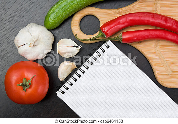 vegetables and cooking utensils - csp6464158