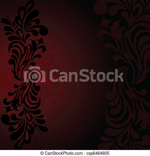 Black pattern on a dark background - csp6464605
