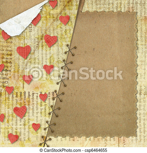Greeting Card to St. Valentine's Day with hearts - csp6464655